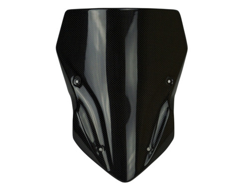 Larger Windscreen in Glossy Plain Weave Carbon Fiber for Kawasaki Z900