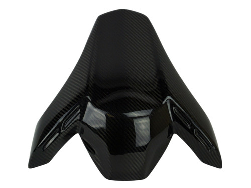 Seat Cover (w. brackets) in Glossy Twill Weave Carbon Fiber for Kawasaki Z900