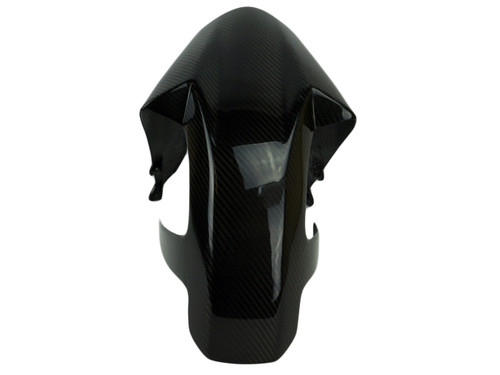 Front Fender ( integral ) in Glossy Twill Weave Carbon Fiber for KTM RC390, Duke 390 2017+