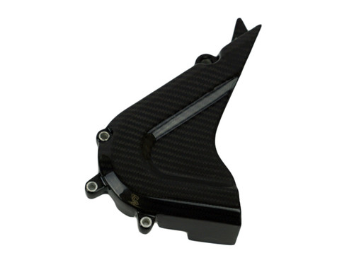 Sprocket Cover in Glossy Twill Weave Carbon Fiber for KTM RC390
