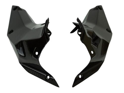 Inner Covers in Glossy Twill Weave Carbon Fiber for KTM Duke 390 2017+