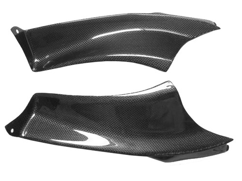 Side Dash Panel Covers in Glossy Plain Weave Carbon Fiber for Aprilia RSVR 04-09