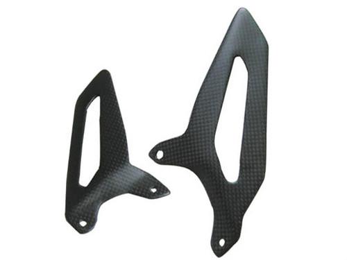 Heel Guards in Matte Plain Weave Carbon Fiber for Ducati Panigale 1199, 1299