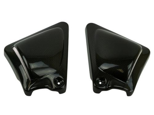 Side Panels in Glossy Plain Weave Carbon Fiber for Harley-Davidson V-Rod 2012-2017 except VRSCF (Muscle)