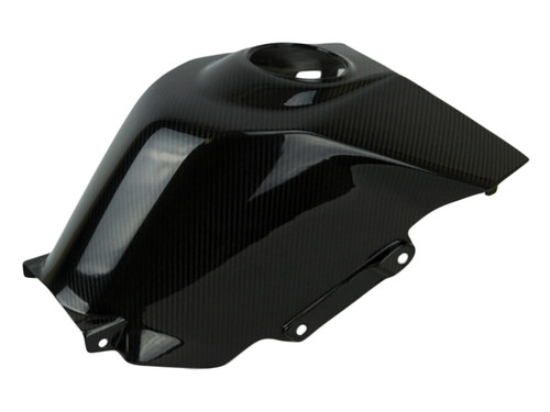 Tank Cover in Glossy Twill Weave Carbon Fiber for KTM RC390