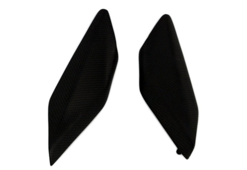 Tankserts/ Underseat Panels for Ducati Panigale 1199 , 1299 in Matte Plain Weave Carbon Fiber
