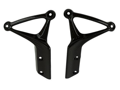 Front Fender Sides in Glossy Twill Weave Carbon Fiber for Kawasaki Z900RS