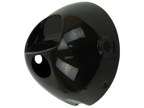 Headlight Bowl in Glossy Plain Weave Carbon Fiber for Kawasaki Z900RS