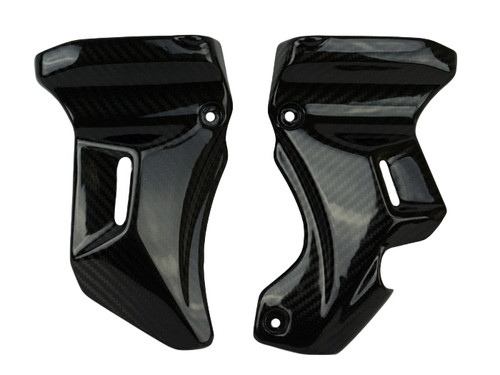 Frame Covers ( at Steering Head ) in Glossy Twill Weave Carbon Fiber for Kawasaki Z900RS