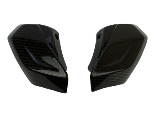 Headlight Fairings in Glossy Twill Weave Carbon Fiber for Aprilia Tuono V4 2016+