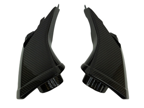 Air Intakes in Glossy Twill Weave Carbon Fiber for Aprilia Tuono V4 2016+