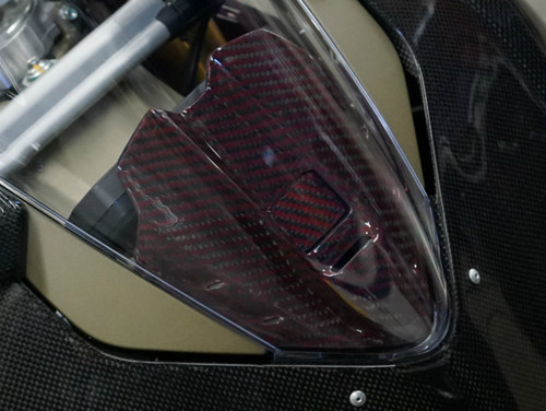Instrument Panel Covering (thin) in 100% Carbon Fiber for Ducati Panigale V4 ( not available in carbon with fiberglass)