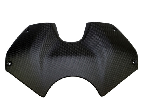 Tank Cover in Matte Plain Weave Carbon Fiber for Ducati Panigale V4