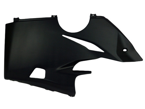 Belly Pan in Matte Plain Weave Carbon Fiber for Ducati Panigale V4
