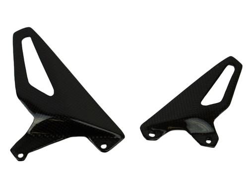 Heel Guards in Matte Plain Weave Carbon Fiber for Ducati Panigale V4