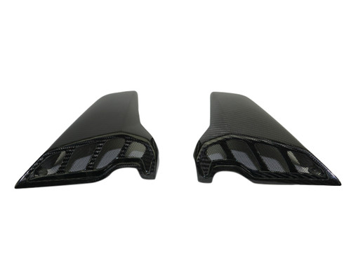 Air Intakes w/ Mesh Grills in Glossy Twill Weave Carbon Fiber for Yamaha FZ-09-MT-09 2017+