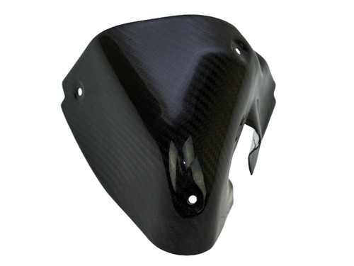 Lower Heat Shield in Glossy Twill Weave Carbon Fiber for Ducati SuperSport 2017+