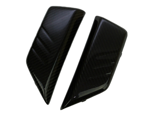 Tank Side Covers in Matte Twill Weave Carbon Fiber for Yamaha FZ-10-MT-10
