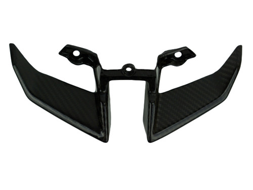Lower Headlight Fairing in Glossy Twill Weave Carbon Fiber for Yamaha FZ-10-MT-10