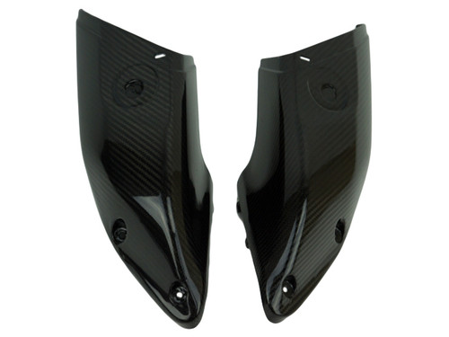 Air Ducts Covers in Glossy Twill Weave Carbon Fiber for Yamaha FZ-10-MT-10