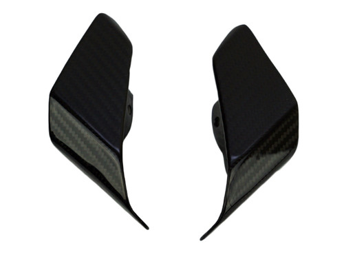 Small Tail Light Covers in Glossy Twill Weave Carbon Fiber for Yamaha FZ-10-MT-10