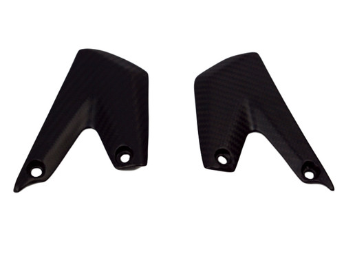 Covers for heel Guards in Matte Twill Weave Carbon Fiber for KTM 690 SMC 08-15, Enduro 08-15