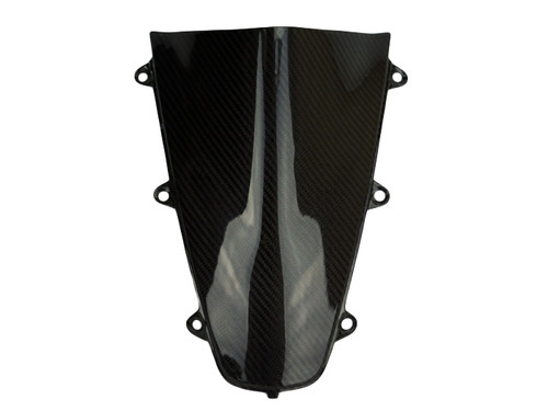 Windscreen (both sides finished) in Glossy Twill Weave Carbon Fiber for Honda CBR1000RR 2017+