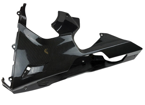 Belly Pan Fairings in Glossy Twill Weave Carbon Fiber for Honda CBR1000RR 2017+