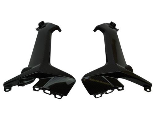 Inner Side Panels in Glossy Twill Weave Carbon Fiber for Honda CBR1000RR 2017+
