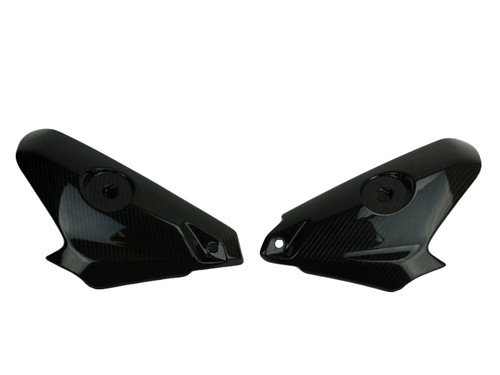Tank Sides in Glossy Twill Weave Carbon Fiber for Honda CBR1000RR 2017+