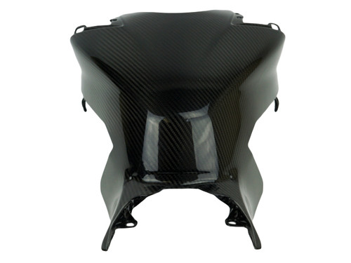 Large Tank Cover in Glossy Twill Weave Carbon Fiber for Honda CBR1000RR 2017+