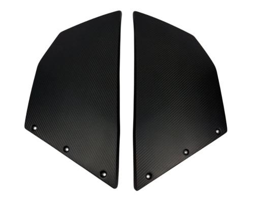 Side Fairings in Matte Twill Weave Carbon Fiber for KTM RC8 2008+