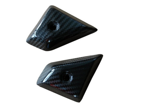 Side Tank Covers in Glossy Twill Weave Carbon Fiber for KTM RC8 2008+
