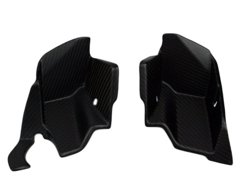 Corners L&R between Tank and Spoiler in Matte Twill Weave Carbon Fiber for KTM Superduke / R 990 2007 - 2013
