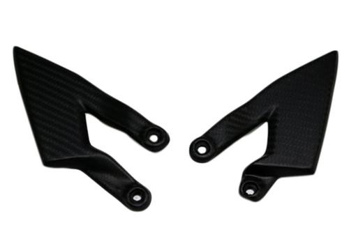 Heel Guards in Matte Twill Weave Carbon Fiber for KTM Superduke / R 990 2004 - 2013