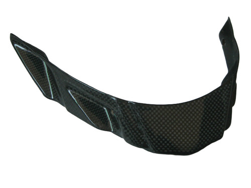 Belly Pan Front in Glossy Plain Weave Carbon Fiber for Triumph Street Triple 2013-2016