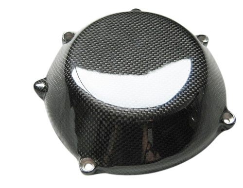 Glossy Plain Weave Carbon Fiber  Clutch Cover for all Ducati with Dry Clutches (style 2)