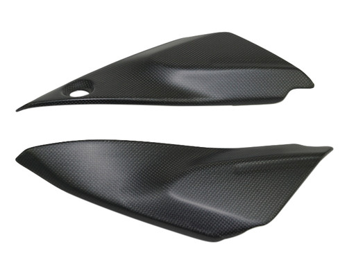 Frame Covers in Glossy Plain Weave Carbon Fiber for Ducati Monster 797