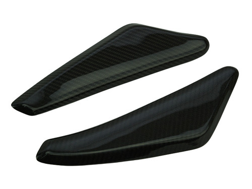 Side Panels in Glossy Twill Weave Carbon Fiber for Yamaha MT-01 2006-2010