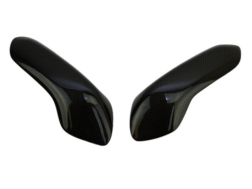 Tank Guards in Glossy Plain Weave Carbon Fiber for Ducati Panigale 899, 959, 1199, 1299