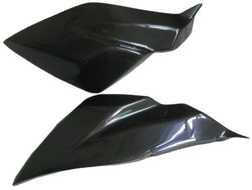 Front Fairing Sides in Glossy Plain Weave Carbon Fiber for Kawasaki Versys 650 2010-2014