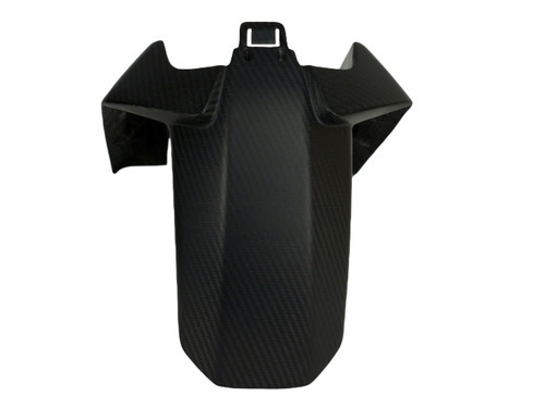 Front Fender ( rear part) in Matte Twill Weave shown for KTM Duke 790.