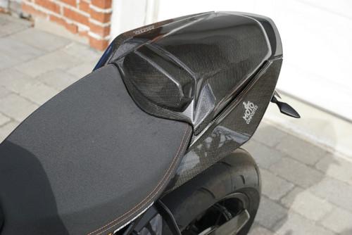 Seat Cover W/ Pad in Glossy Plain Weave Carbon Fiber for KTM 1290 Super Duke R