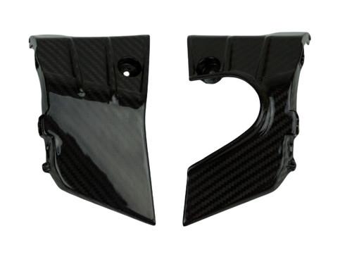 Inner Rad Panels in Glossy Twill Weave Carbon Fiber for Honda CB1000R 2018+