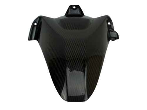 Rear Hugger Long Version w/o cutout in Glossy Twill Weave shown for BMW S1000RR, S1000R.