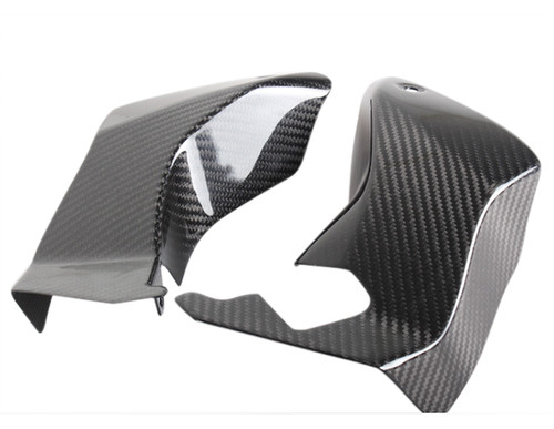 Glossy Twill Weave Carbon Fiber  Air Dampers/ Ducts for Aprilia Tuono 06-10