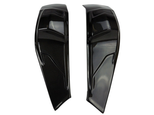 Frame Covers in Glossy Twill Weave shown for Buell XB9R,S,SX  XB12R,S,SX.