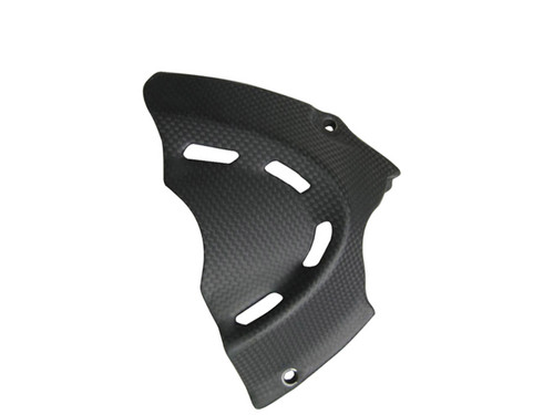 Sprocket Cover for Ducati Diavel in Glossy Plain Weave Carbon Fiber