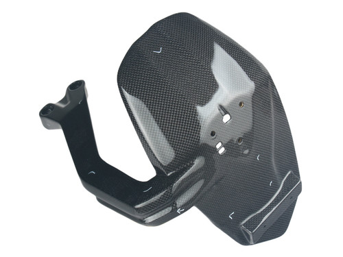 Splash Guard in Glossy Plain Weave Carbon Fiber for Ducati Monster 1200, 1200S