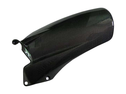 Glossy Plan Weave Carbon Fiber Mudguard - Single Sided Swingarm for Ducati Multistrada 1200